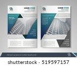 blue annual report brochure... | Shutterstock .eps vector #519597157