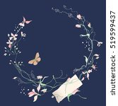 vector floral elements with... | Shutterstock .eps vector #519599437
