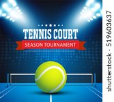 tennis ball championship or... | Shutterstock .eps vector #519603637