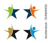 human figure star logo template   Shutterstock .eps vector #519604453