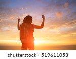 silhouette of sport woman feel... | Shutterstock . vector #519611053