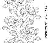 vector seamless monochrome... | Shutterstock .eps vector #519615157
