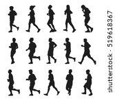 running silhouettes vector... | Shutterstock .eps vector #519618367