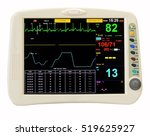 vital signs monitor on white...   Shutterstock . vector #519625927