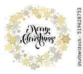 merry christmas text. vector...   Shutterstock .eps vector #519628753