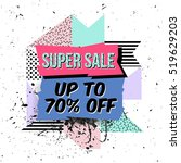 vector abstract sale poster in... | Shutterstock .eps vector #519629203