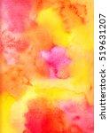 Handmade Yellow Pink Watercolo...