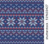 christmas knitting seamless... | Shutterstock .eps vector #519633427