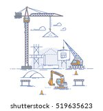 construction site  building a... | Shutterstock .eps vector #519635623