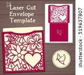 lasercut vector wedding... | Shutterstock .eps vector #519637807
