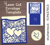 lasercut vector wedding... | Shutterstock .eps vector #519637813