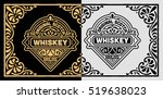 vintage label for whiskey... | Shutterstock .eps vector #519638023