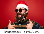 happy modern santa claus... | Shutterstock . vector #519639193