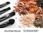 four makeup brushes and... | Shutterstock . vector #519644587