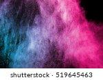 Color Powder Explosion On Blac...