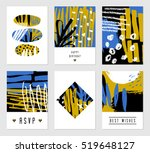a set of six hand drawn... | Shutterstock .eps vector #519648127