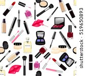 makeup  perfume  cosmetics...   Shutterstock .eps vector #519650893