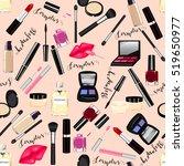 makeup  perfume  cosmetics...   Shutterstock .eps vector #519650977