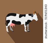 Cow Icon. Flat Illustration Of...