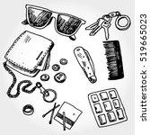 some pocket stuff doodles | Shutterstock .eps vector #519665023