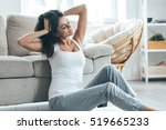 lazy weekend. attractive young... | Shutterstock . vector #519665233