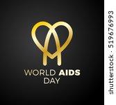 world aids day. awareness  red...   Shutterstock .eps vector #519676993