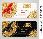 gift card layout template with... | Shutterstock .eps vector #519684727