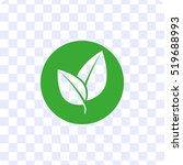 leaf sign   vector icon   Shutterstock .eps vector #519688993