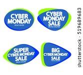 set speech bubble banners ... | Shutterstock .eps vector #519689683