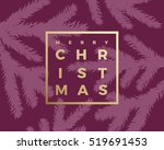 merry christmas abstract vector ... | Shutterstock .eps vector #519691453