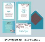 set of templates  for wedding... | Shutterstock .eps vector #519693517