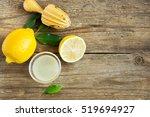 fresh lemon juice in small bowl