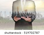 double exposure of businessman... | Shutterstock . vector #519702787