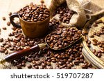 black coffee beans | Shutterstock . vector #519707287