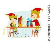 Christmas Boy And Girl Elf...