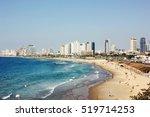 Tel Aviv Beach Coast With A...