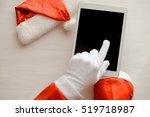 Top View On Santa Claus Workin...