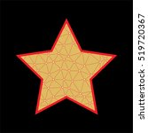 vector abstract star with grid... | Shutterstock .eps vector #519720367