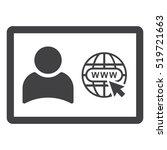 web window icon vector flat... | Shutterstock .eps vector #519721663