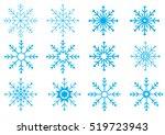 christmas winter snowflakes... | Shutterstock .eps vector #519723943