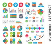 business charts. growth graph.... | Shutterstock .eps vector #519729877
