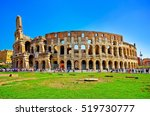 View Of Colosseum In A Sunny...