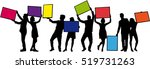 group of people with banners. | Shutterstock .eps vector #519731263