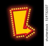 glowing arrow with lamps.... | Shutterstock .eps vector #519732337