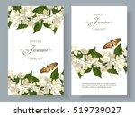 vector jasmine flower banners.... | Shutterstock .eps vector #519739027