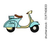 italian scooter from italy icon ... | Shutterstock .eps vector #519740833