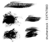 vector set of grunge brush... | Shutterstock .eps vector #519747883