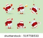 cute cartoon  snowman... | Shutterstock .eps vector #519758533