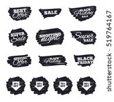 ink brush sale stripes and... | Shutterstock .eps vector #519764167