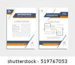 brochure design layout with... | Shutterstock .eps vector #519767053